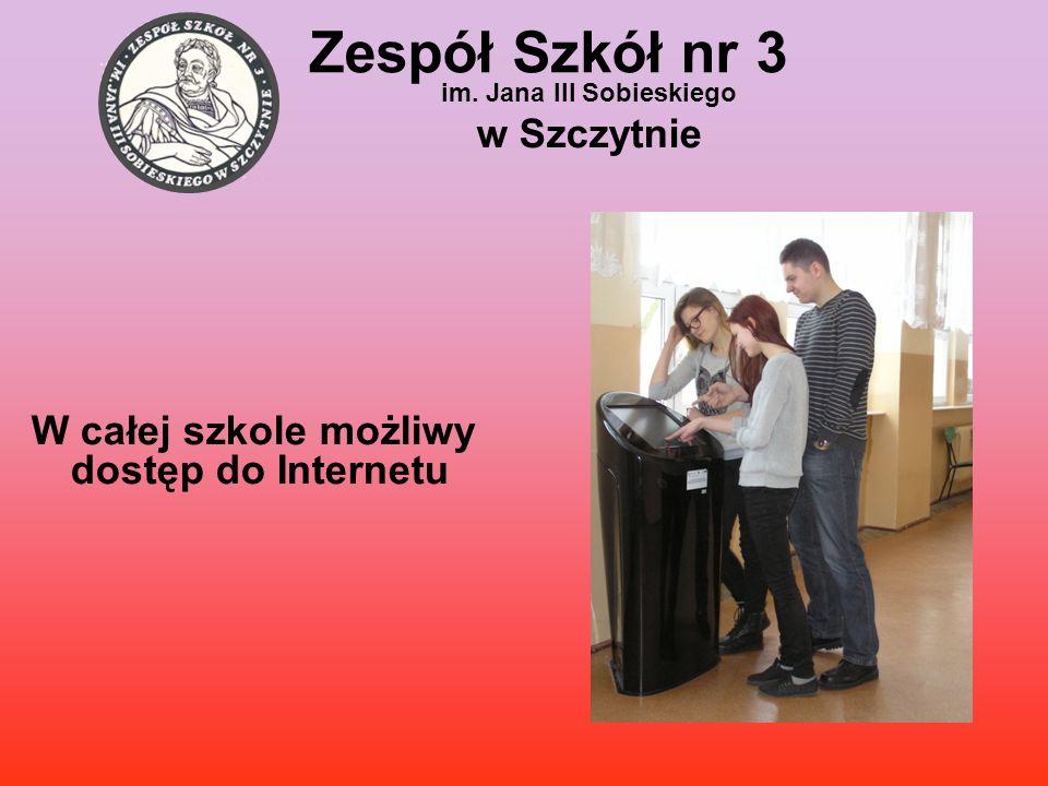 W całej szkole możliwy dostęp do Internetu