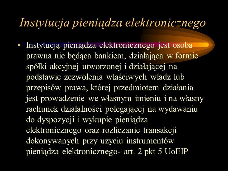 Instytucja pieniądza elektronicznego