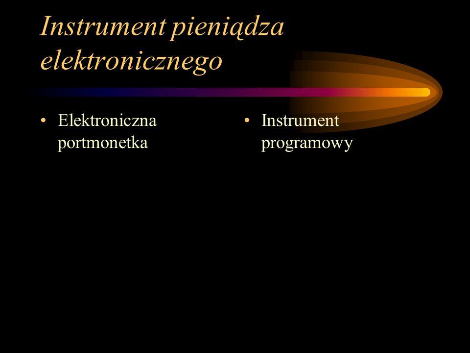 Instrument pieniądza elektronicznego