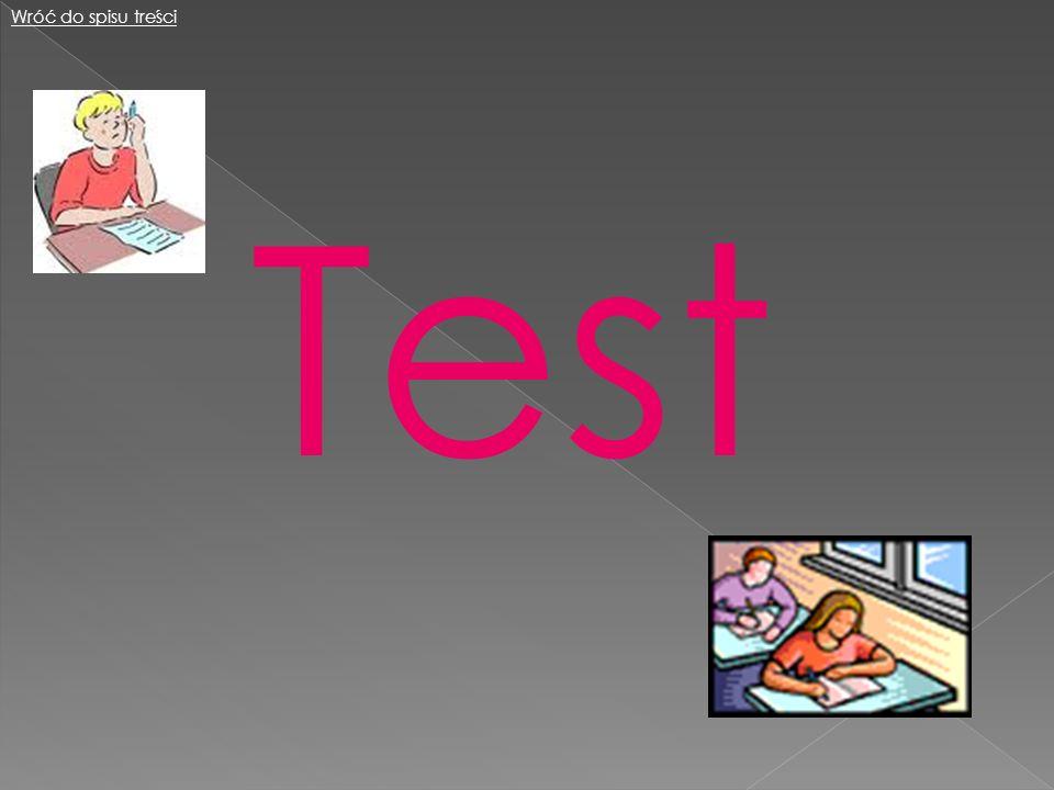 Wróć do spisu treści Test