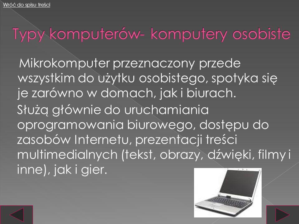 Typy komputerów- komputery osobiste