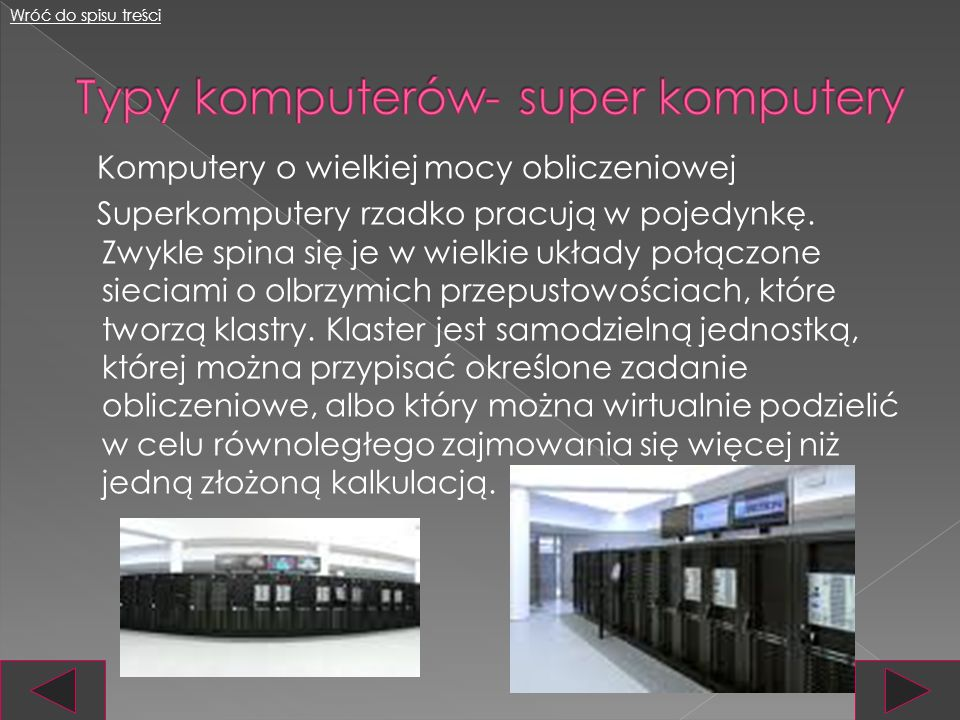 Typy komputerów- super komputery