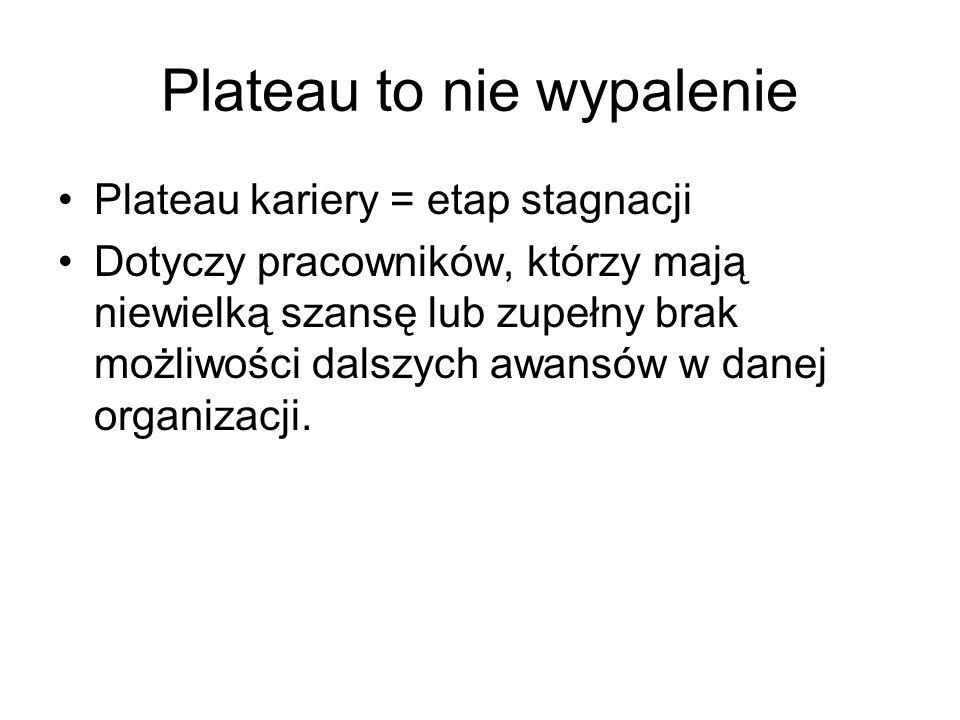 Plateau to nie wypalenie