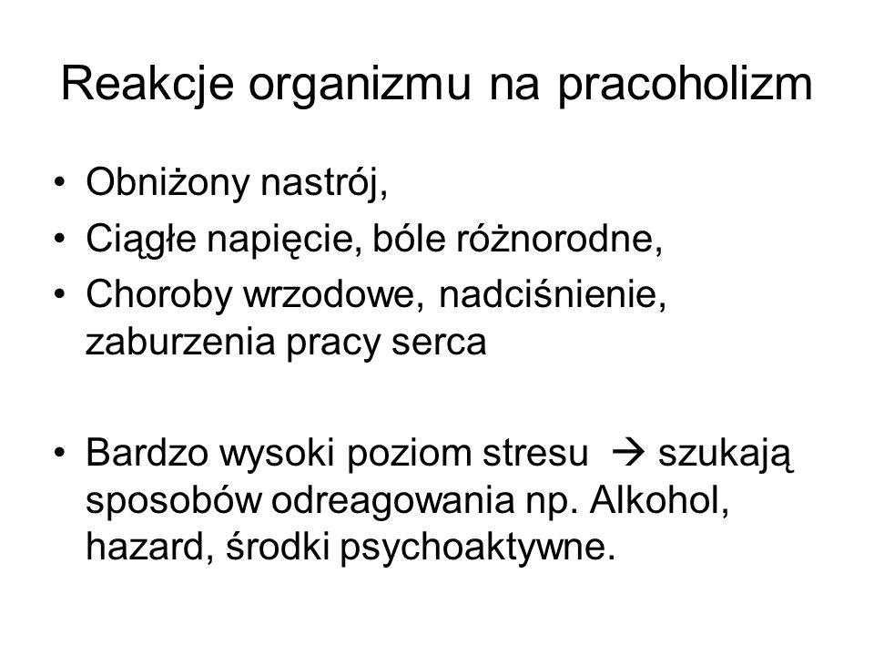 Reakcje organizmu na pracoholizm