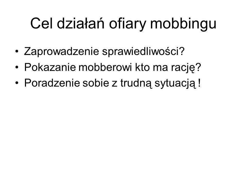 Cel działań ofiary mobbingu