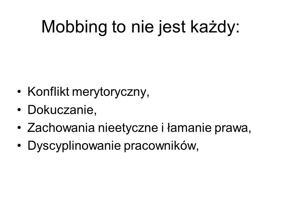 Mobbing to nie jest każdy: