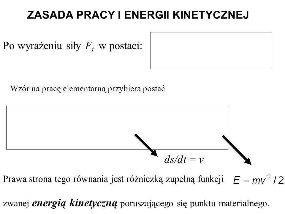 ZASADA PRACY I ENERGII KINETYCZNEJ