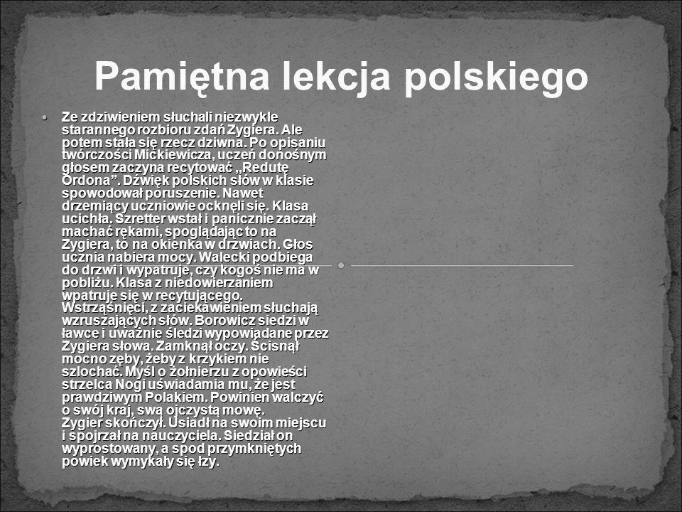 Pamiętna lekcja polskiego