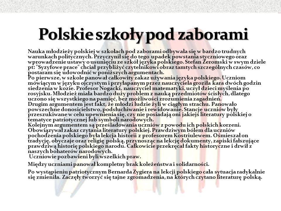 Polskie szkoły pod zaborami