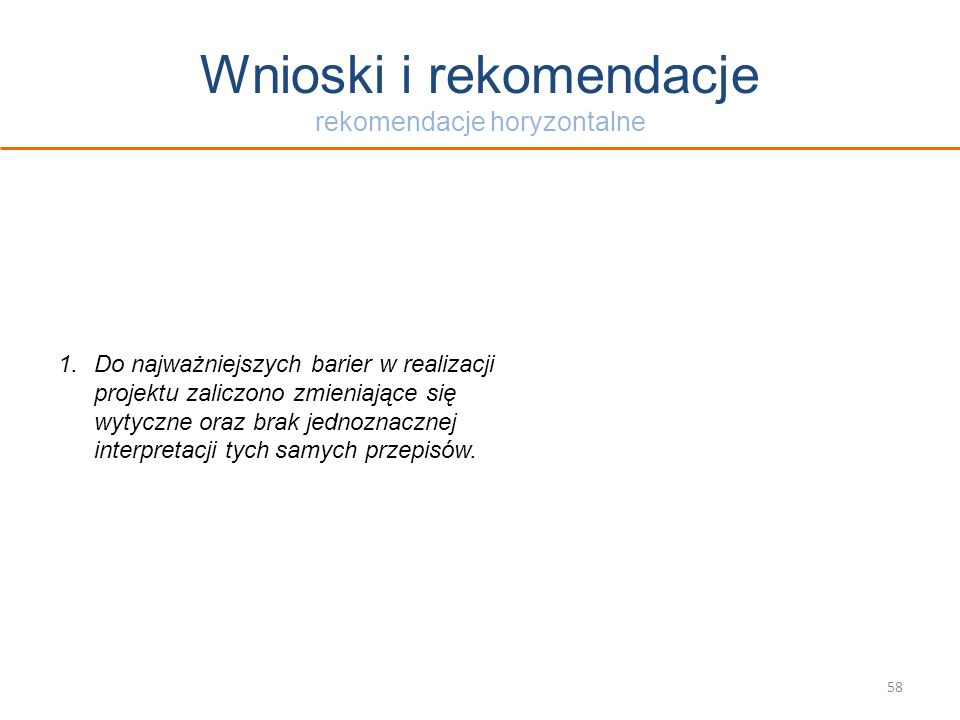 Wnioski i rekomendacje rekomendacje horyzontalne