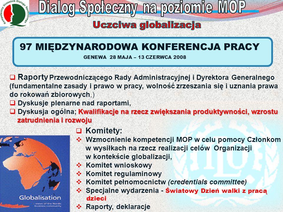 Dialog Społeczny na poziomie MOP