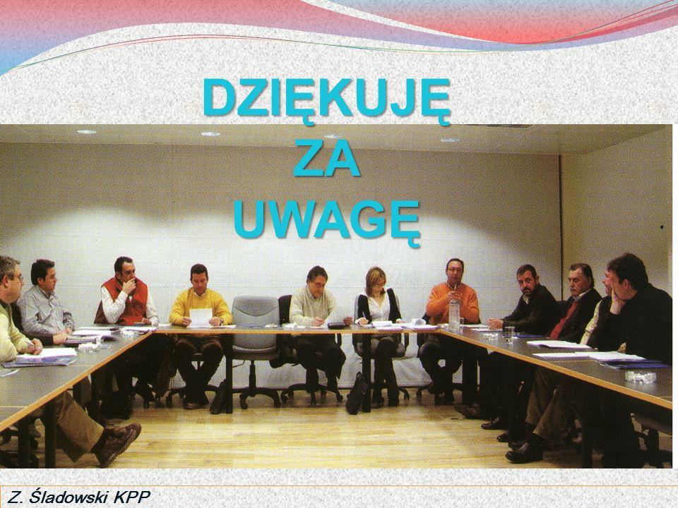 DZIĘKUJĘ ZA UWAGĘ Z. Śladowski KPP