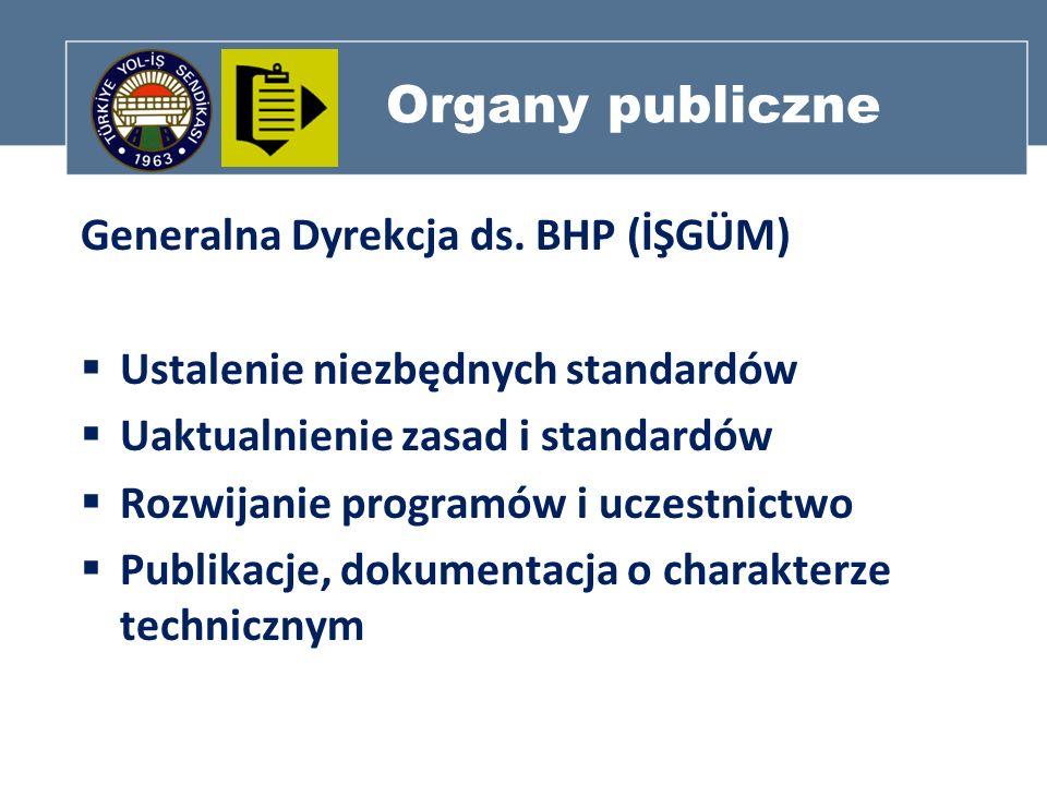 Organy publiczne Generalna Dyrekcja ds. BHP (İŞGÜM)