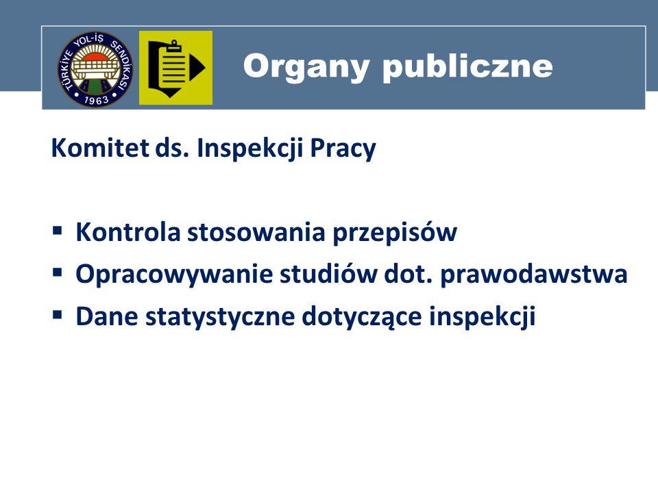 Organy publiczne Komitet ds. Inspekcji Pracy