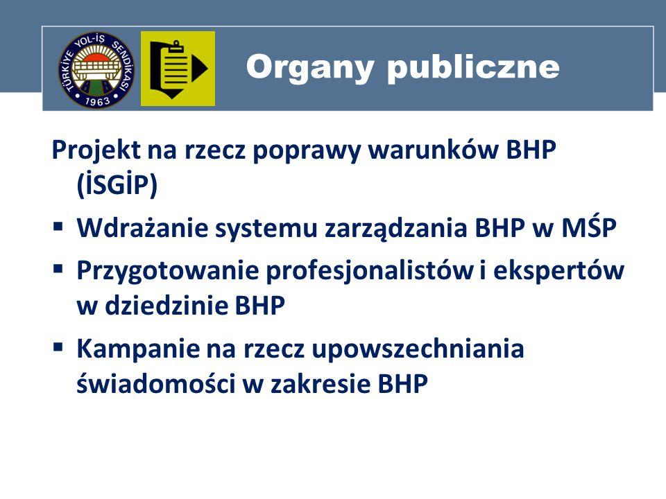 Organy publiczne Projekt na rzecz poprawy warunków BHP (İSGİP)