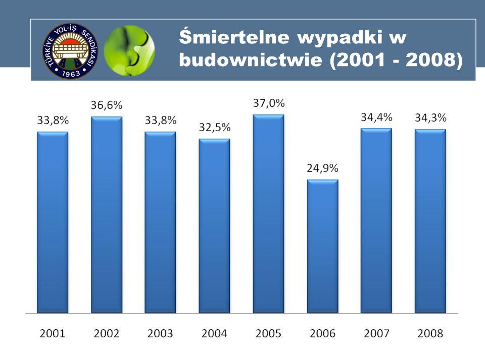 Śmiertelne wypadki w budownictwie (2001 - 2008)