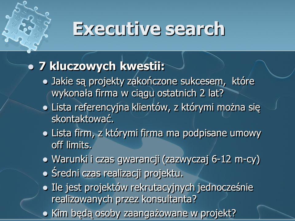 Executive search 7 kluczowych kwestii: