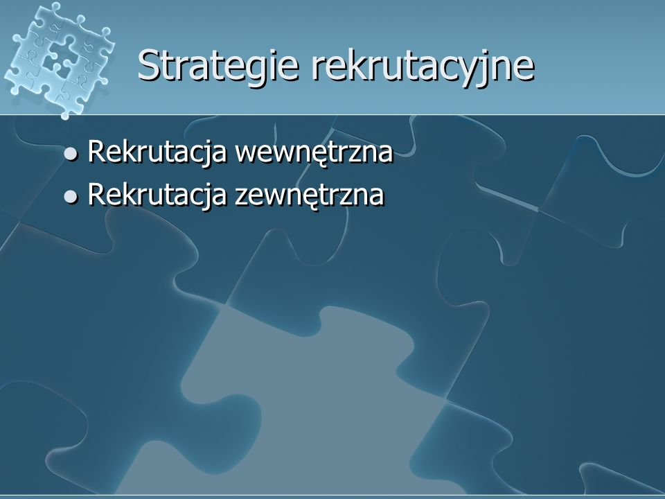 Strategie rekrutacyjne