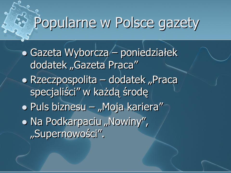Popularne w Polsce gazety