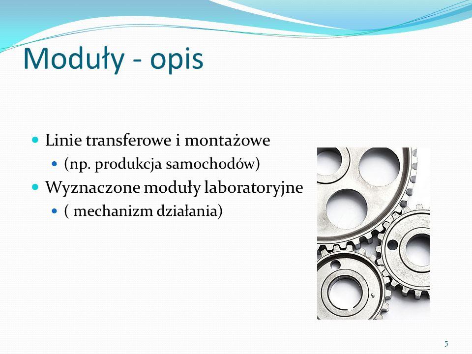 Moduły - opis Linie transferowe i montażowe
