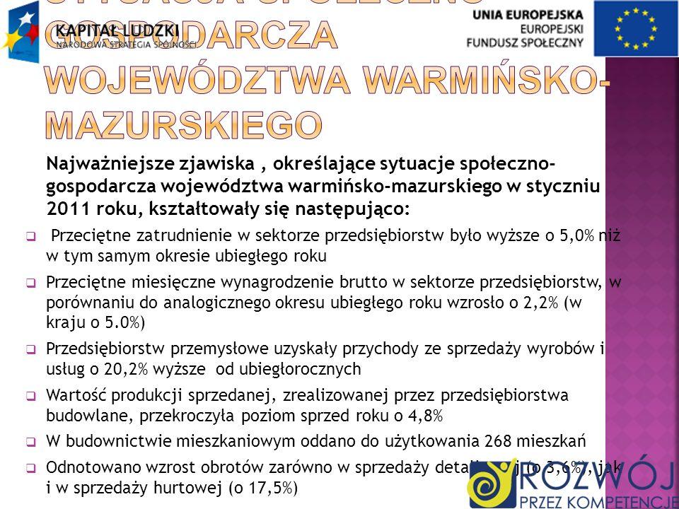 Sytuacja społeczno-gospodarcza województwa warmińsko-mazurskiego