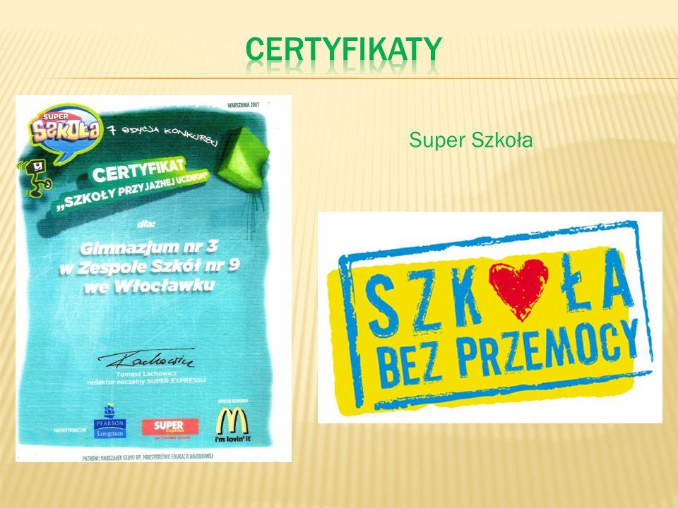 certyfikaty Super Szkoła