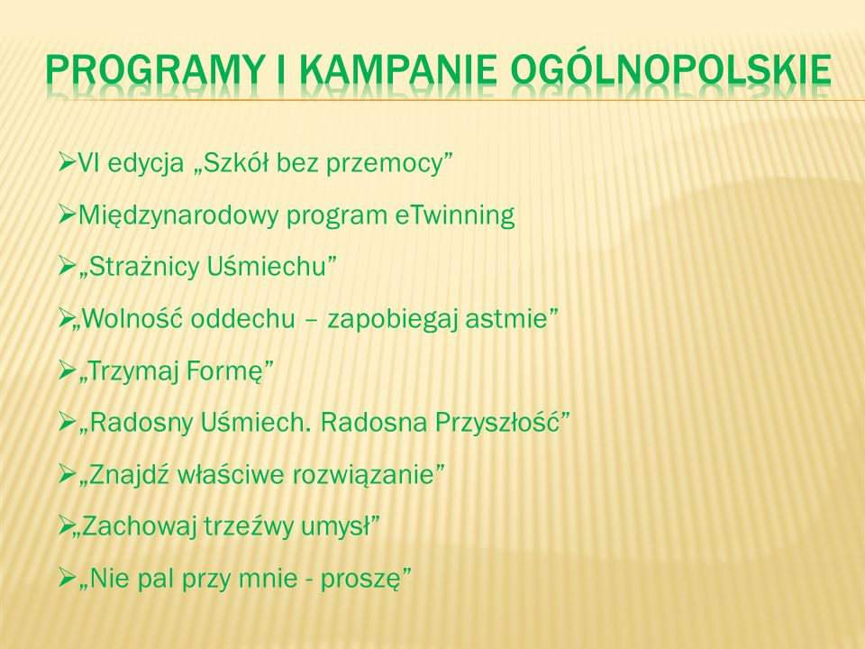 Programy i Kampanie ogólnopolskie