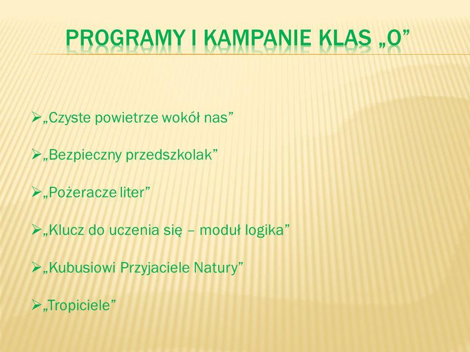 """Programy i Kampanie klas """"o"""