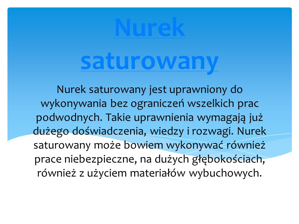 Nurek saturowany