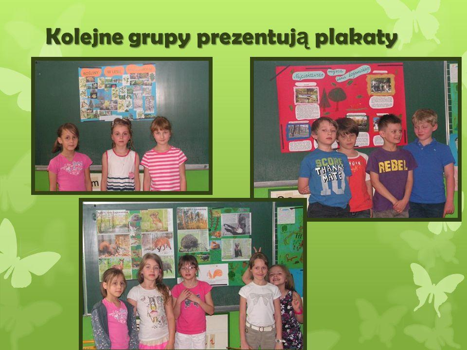 Kolejne grupy prezentują plakaty