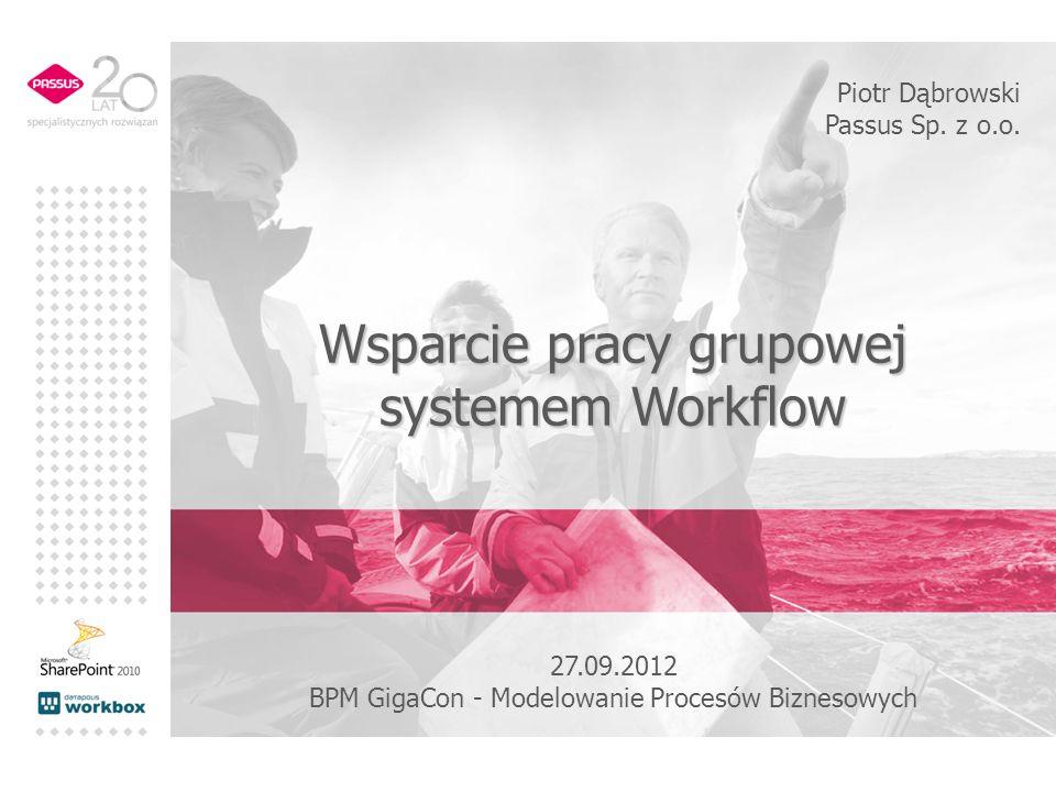 Wsparcie pracy grupowej systemem Workflow