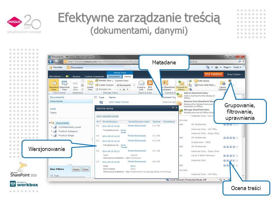 Efektywne zarządzanie treścią (dokumentami, danymi)