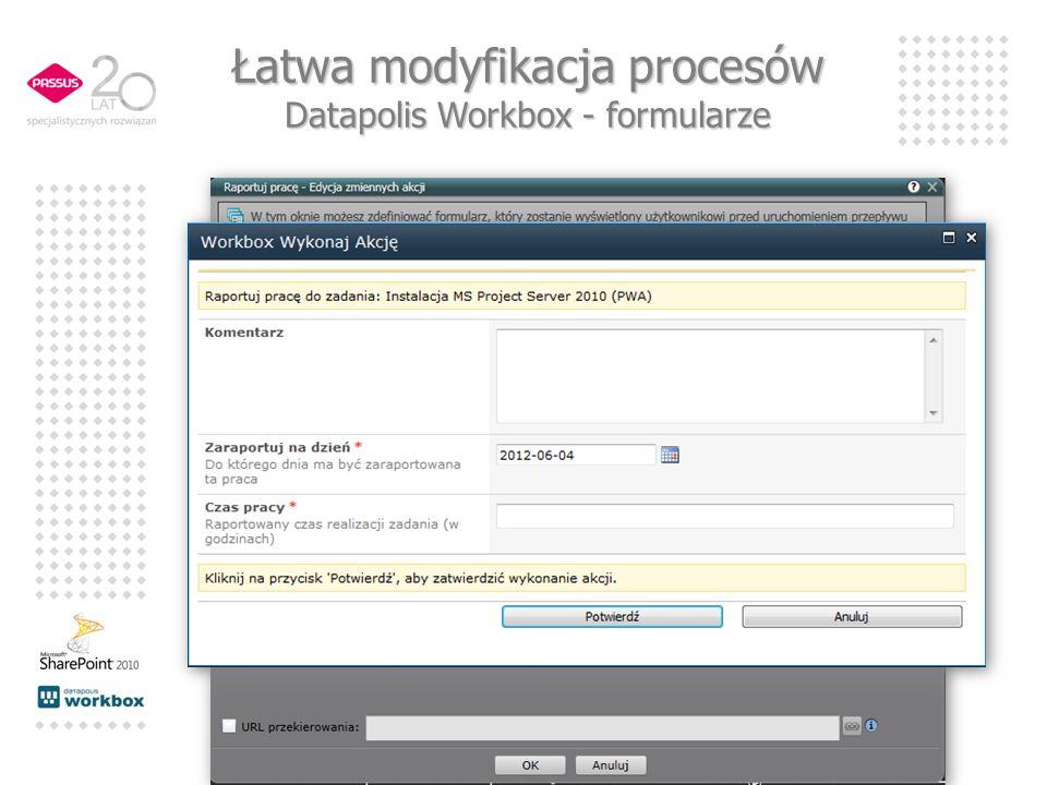 Łatwa modyfikacja procesów Datapolis Workbox - formularze