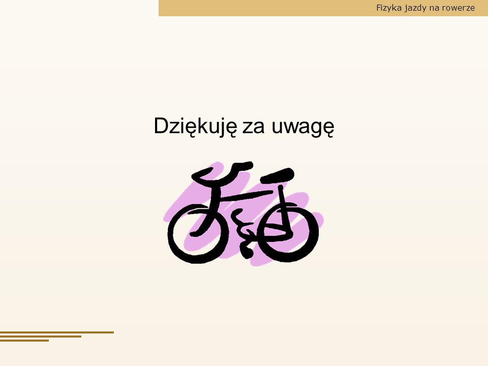 Fizyka jazdy na rowerze