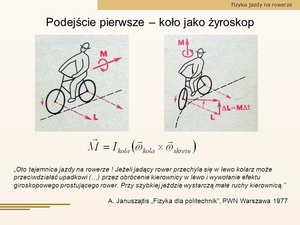 Podejście pierwsze – koło jako żyroskop
