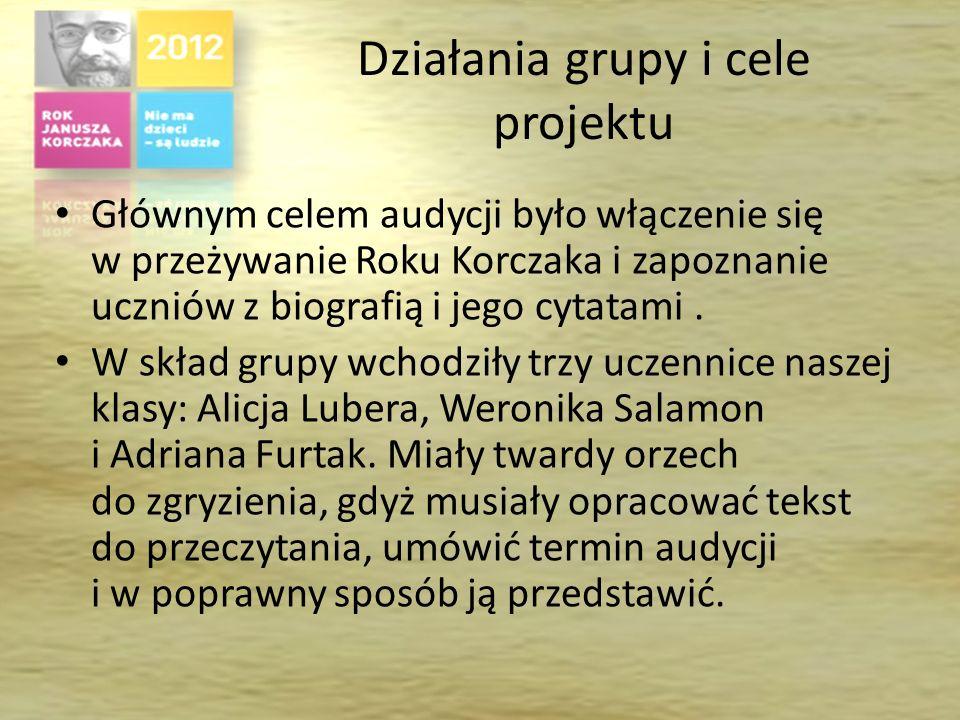 Działania grupy i cele projektu
