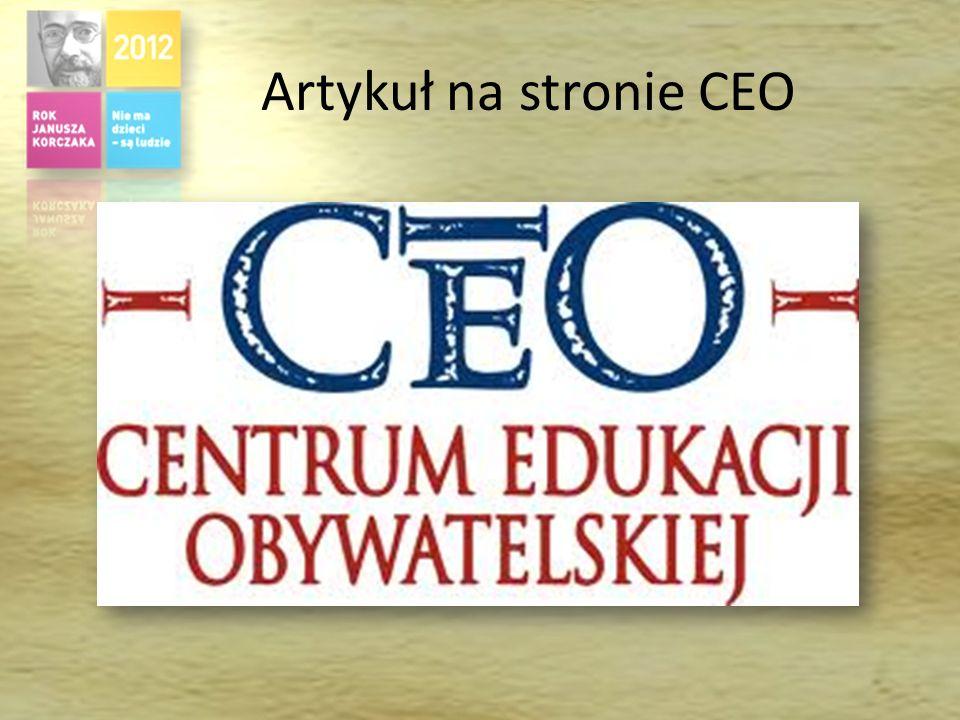 Artykuł na stronie CEO