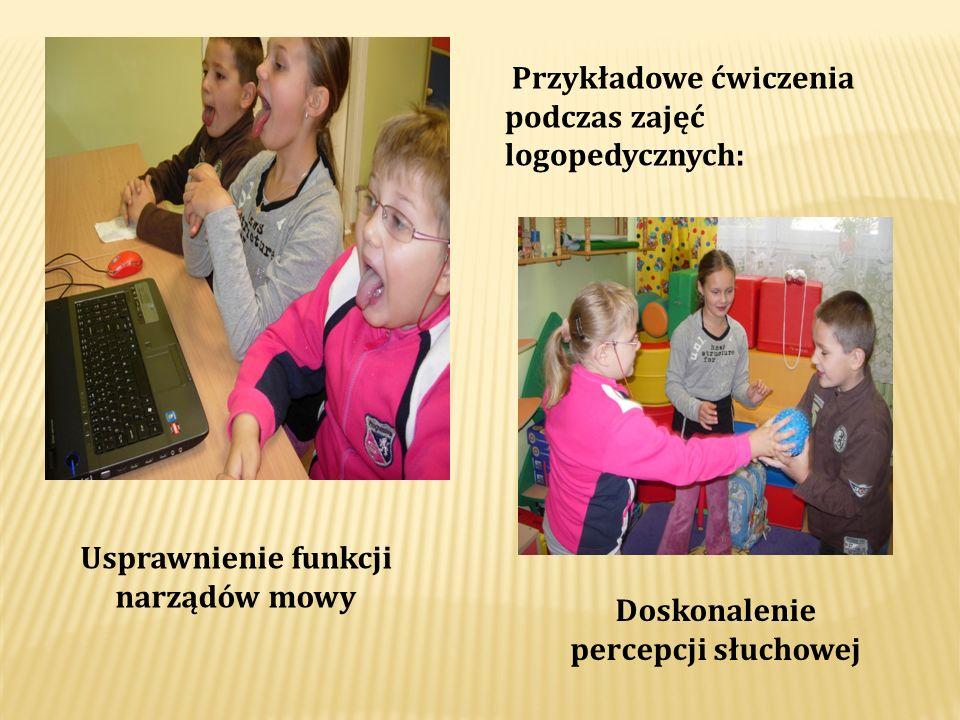 Usprawnienie funkcji narządów mowy Doskonalenie percepcji słuchowej