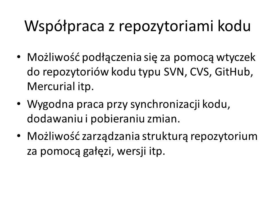 Współpraca z repozytoriami kodu