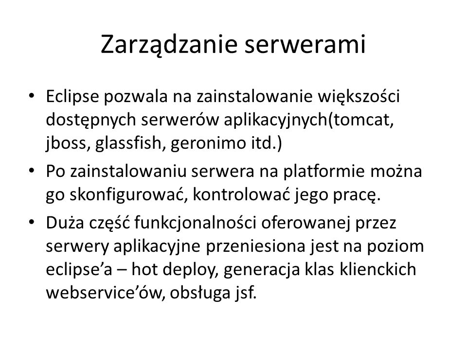 Zarządzanie serwerami