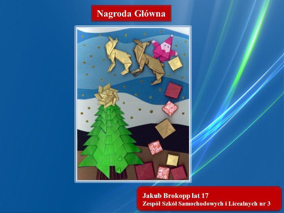 Nagroda Główna Jakub Brokopp lat 17