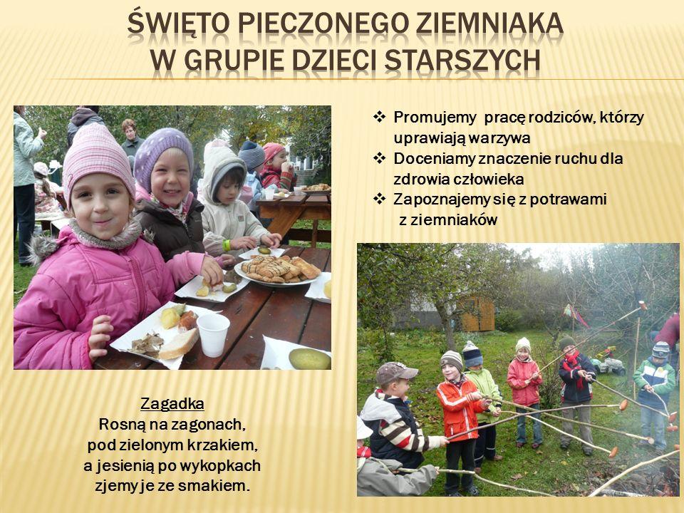 Święto pieczonego ziemniaka w grupie dzieci starszych
