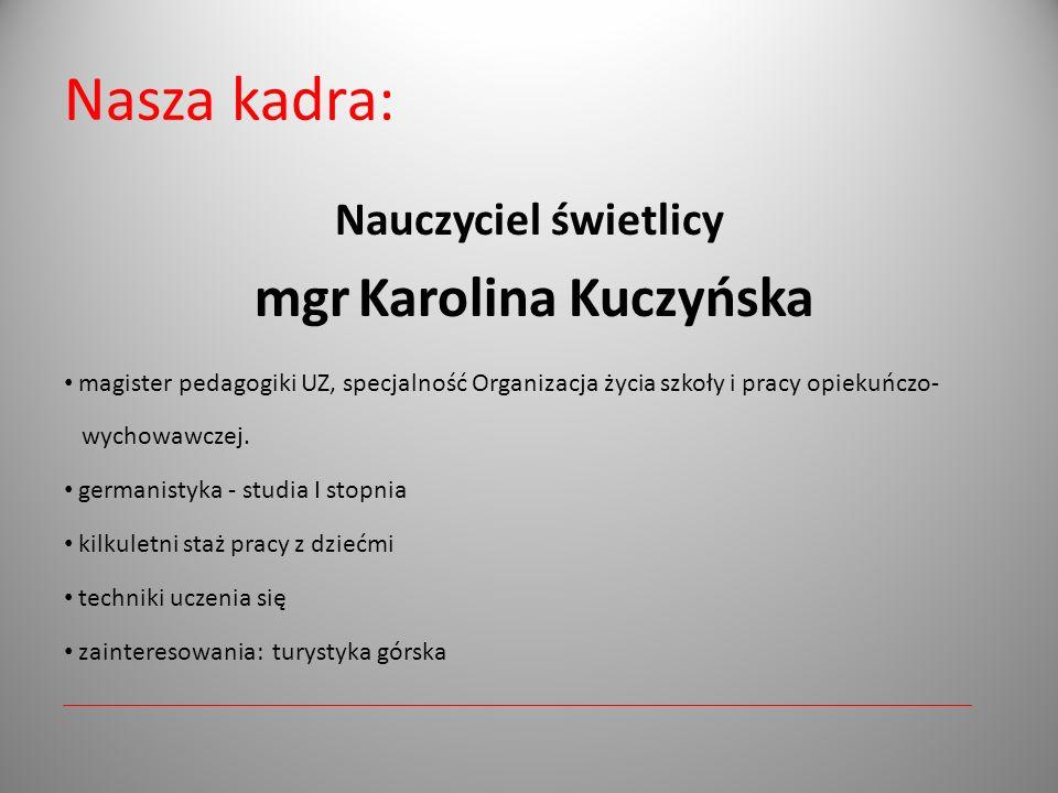 mgr Karolina Kuczyńska