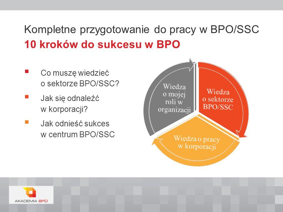 Kompletne przygotowanie do pracy w BPO/SSC 10 kroków do sukcesu w BPO