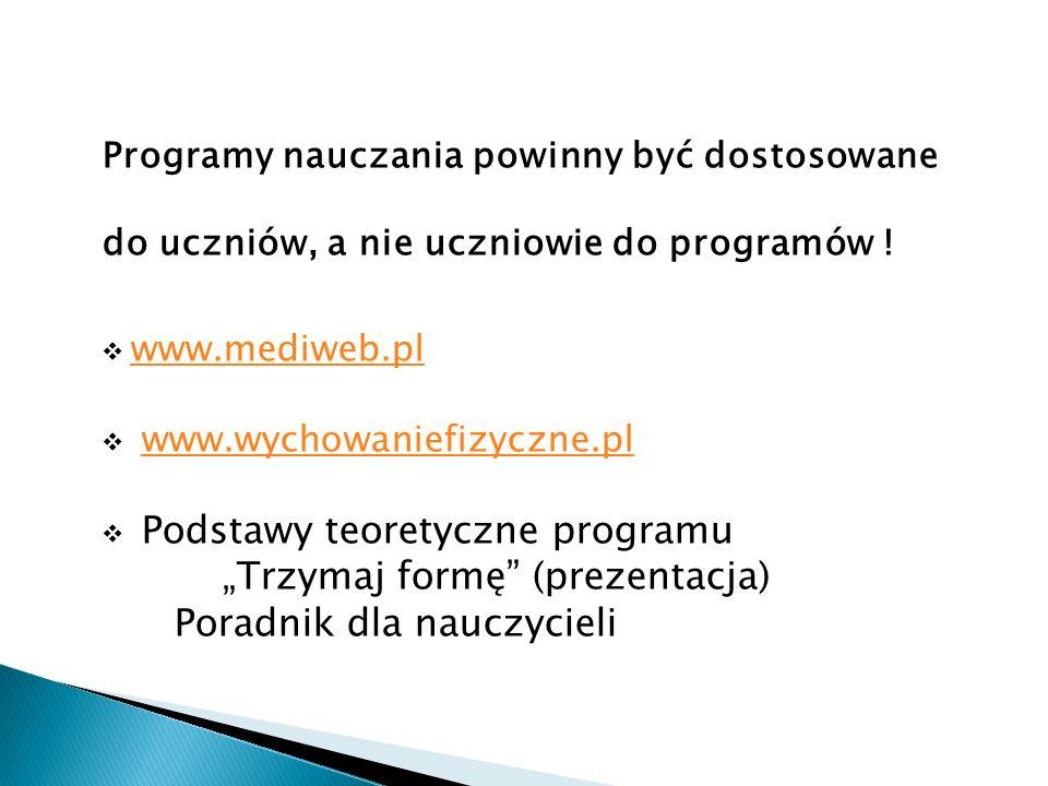 """""""Trzymaj formę (prezentacja) Poradnik dla nauczycieli"""