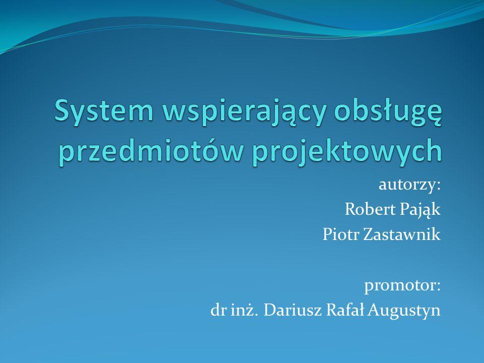 System wspierający obsługę przedmiotów projektowych