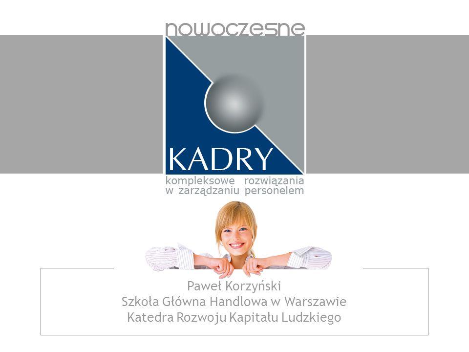 Szkoła Główna Handlowa w Warszawie Katedra Rozwoju Kapitału Ludzkiego