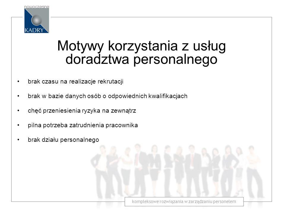 Motywy korzystania z usług doradztwa personalnego
