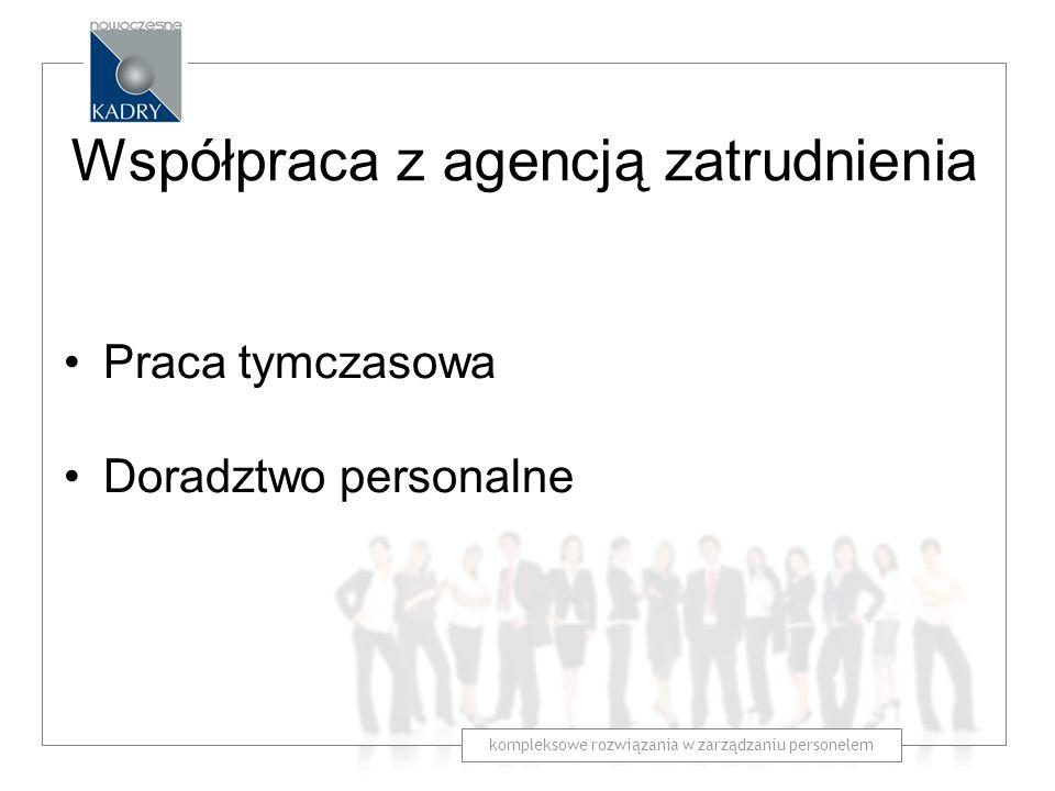 Współpraca z agencją zatrudnienia