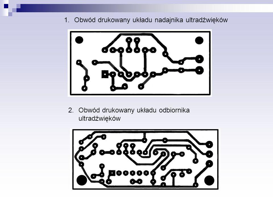 Obwód drukowany układu nadajnika ultradźwięków